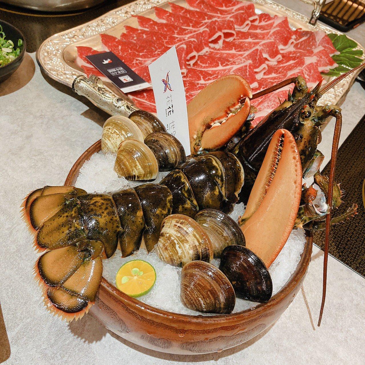 【台南超強火鍋】花花世界鍋物|海鮮|龍蝦|和牛|台南火鍋|精緻鍋物
